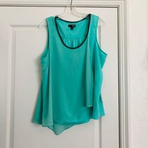 a.n.a. Turquoise Tank Top